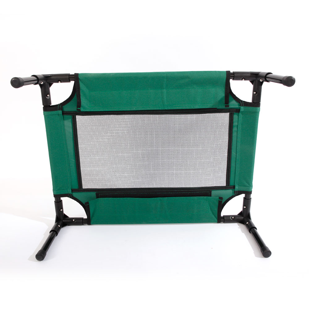 Access Control Access Control Kits Detachable Assembly Style Breathable Pet Steel Frame Camp Bed S Green