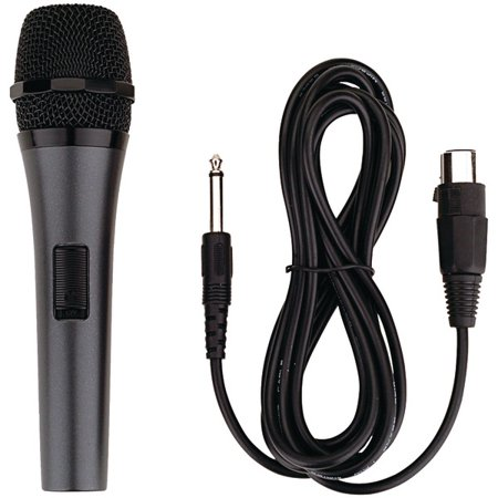 KARAOKE USA M189 Professional Dynamic Microphone with Detachable (Detachable Microphone)