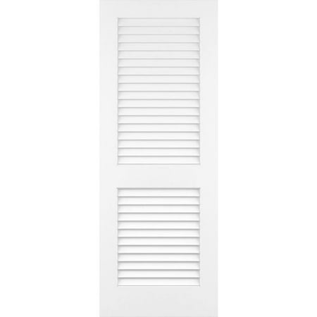 Glass Door Solid Wood - Kimberly Bay Louvered Solid Wood Primed Standard Door