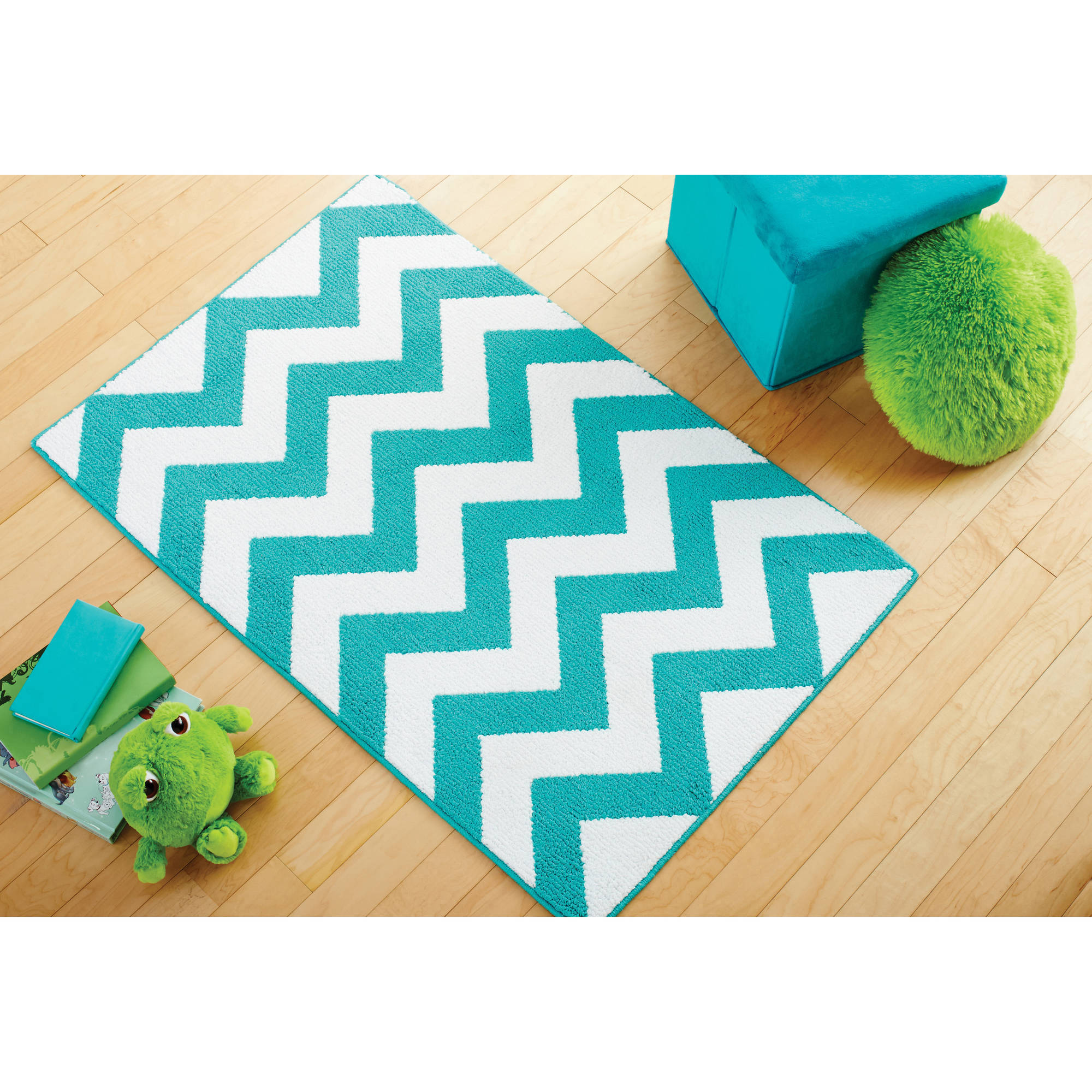 Mainstays Kids Chevron Pattern Rug Available In Multiple Colors And Sizes