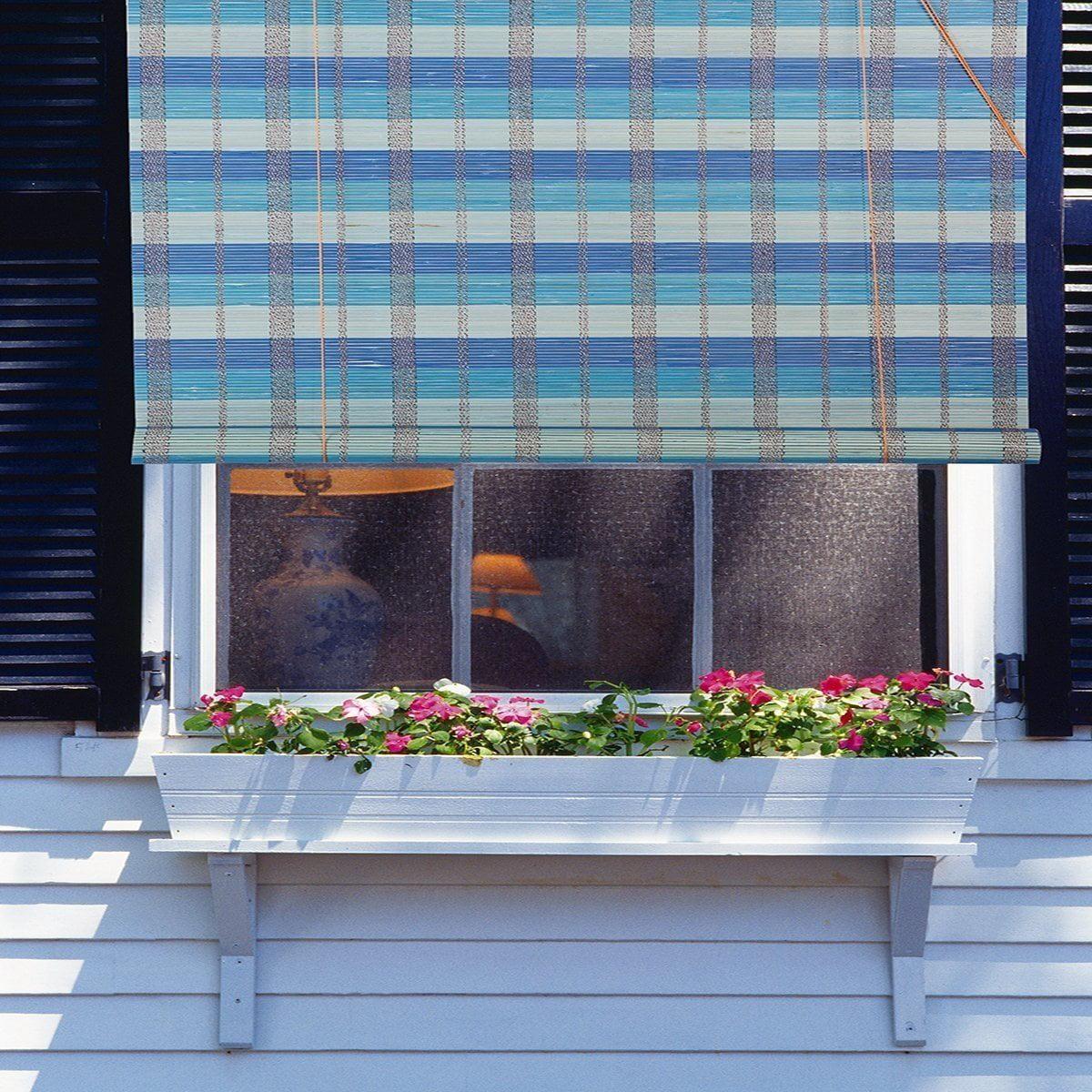 Bamboo Roll Up Window Blind Sun Shade W36 x H72
