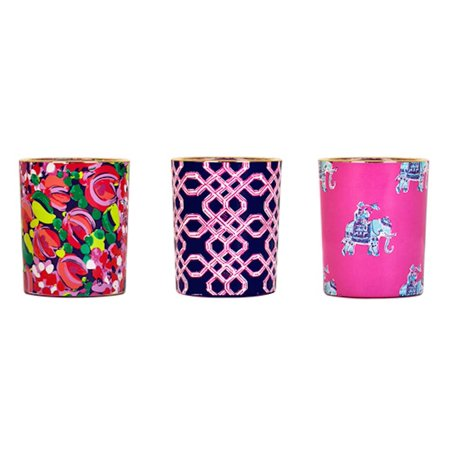 - Lilly Pulitzer - 3 Candle Votive Set - Wild Confetti