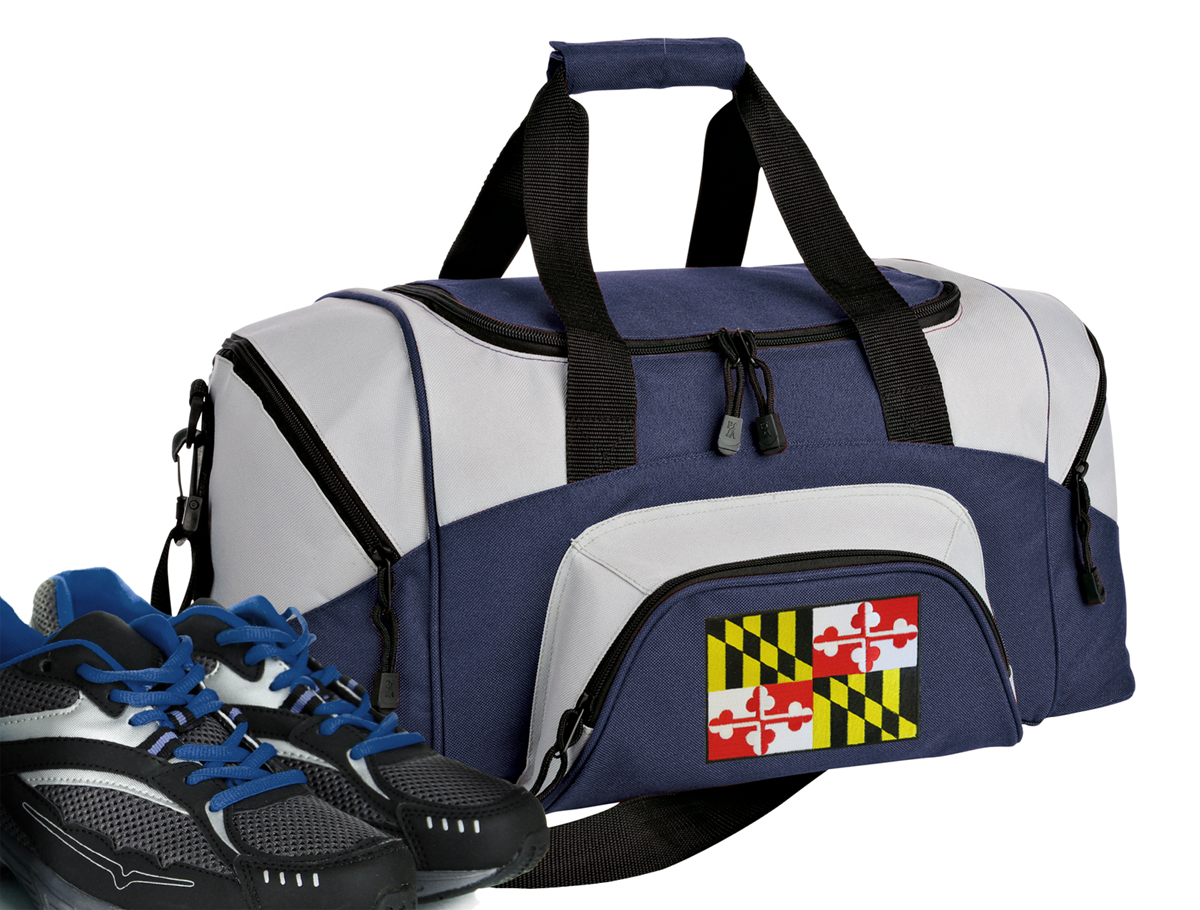Small Maryland Flag Duffle Bag or Small Maryland Gym Bags by