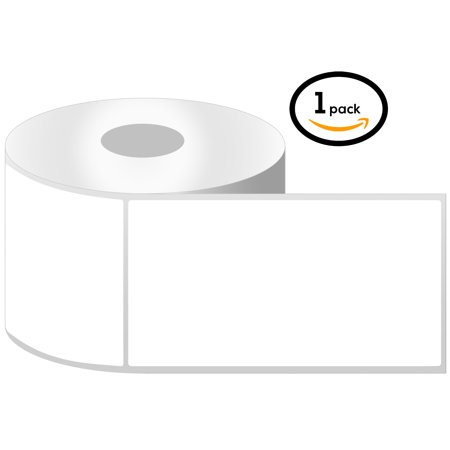 "OfficeSmartLabels 4"" x 6.5"" Thermal Transfer Labels, Zebra Compatible Labels (1 Roll, 225 Labels Per Roll, 1 inch Core, White, 4"" Diameter, Perforated)"
