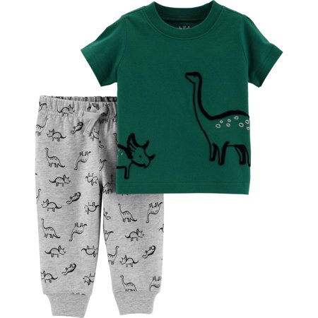 Child of Mine by Carter's Short Sleeve T-Shirt & Jogger Pants, 2-Piece Outfit Set (Toddler Boys)