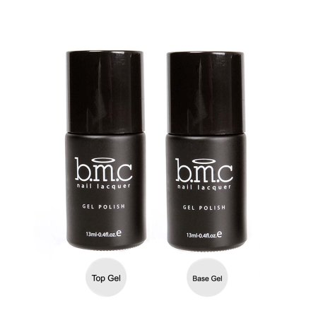 BMC UV/LED Gel Nail Art Lacquer Polish Top and Base Coat Manicure Essentials Set
