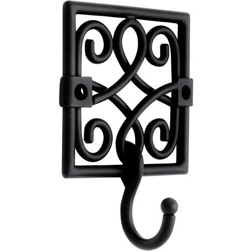 Brainerd Bourbon Street Single Hook, Flat Black