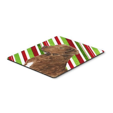 Chesapeake Bay Retriever Candy Cane Christmas Mouse Pad, Hot Pad or Trivet