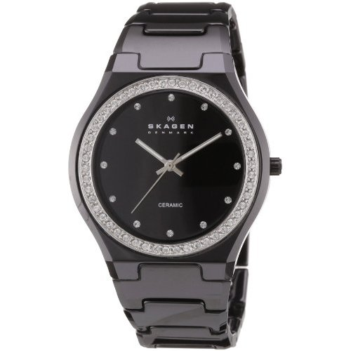 Skagen Women's 813LXBC Ceramic Black Ceramic Crystal Watch