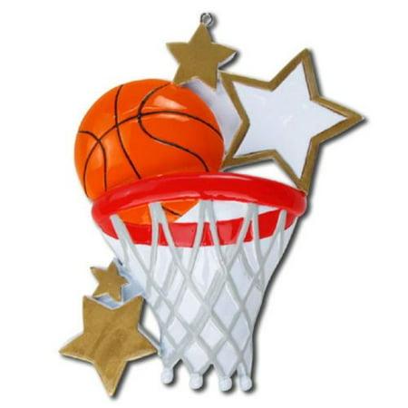 Basketball Sport Personalized Christmas Tree Ornament X-mass Noel ()