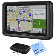 """Garmin dezl 770LMTHD 7"""" GPS Navigation System with Map and Traffic Updates Case Bundle - Includes 7"""" GPS Navigation System, PocketPro XL Hardshell Case for 7"""" Tablets and 1 Piece Micro Fiber Cloth"""