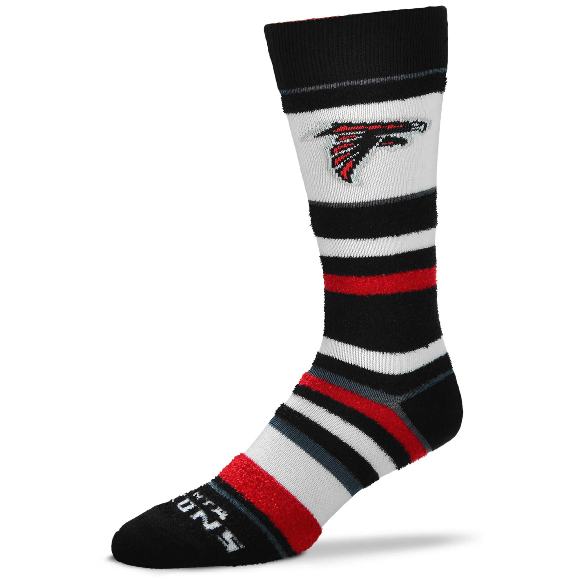 Atlanta Falcons For Bare Feet Women's Soft Stripe Quarter-Length Socks - No Size