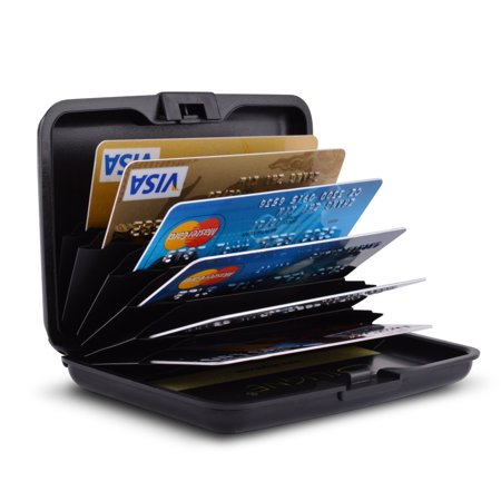 TSV Credit Card Holder for Women or Men Metal Credit Card Wallet Protector Metal Credit Card Case