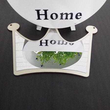 outdoorline Wooden Acrylic Headwear Shape Hanging Mirror Decorative Mirror Children Room Home Ornaments - image 6 de 9