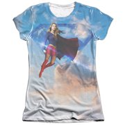 Supergirl Up In The Sky (Front Back Print) Juniors Sublimation Shirt