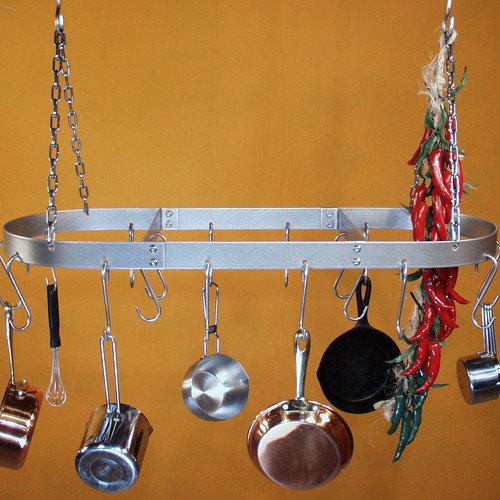 HSM Racks Low Profile Oval Hanging Pot Rack