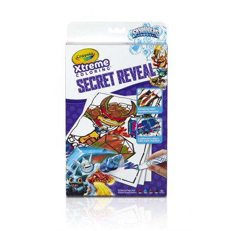 Crayola Xtreme Coloring Skylanders  Includes Coloring Pages And Markers  3 Different Colors In 1 Marker For Extreme Fun