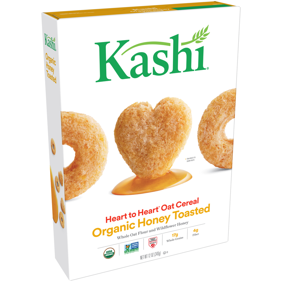 Kashi Heart to Heart Organic Oat Cereal, Honey Toasted, 12 Oz