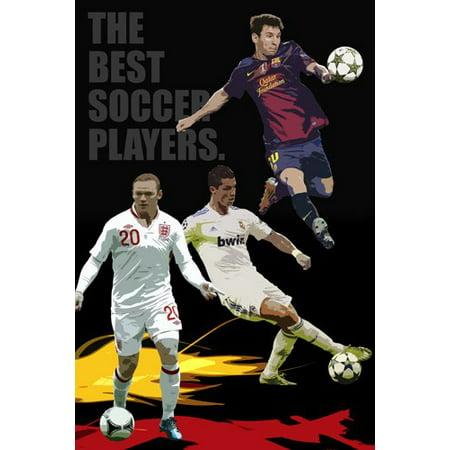 All Star Soccer Poster Rooney Ronaldo Messi Football 24X36 (Football Poster Ideas)