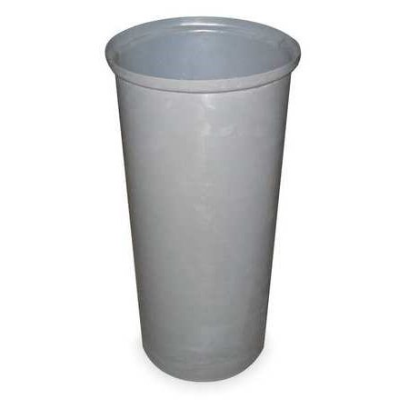 TOUGH GUY Trash Can,Round,11 gal.,Gray 4PGR6