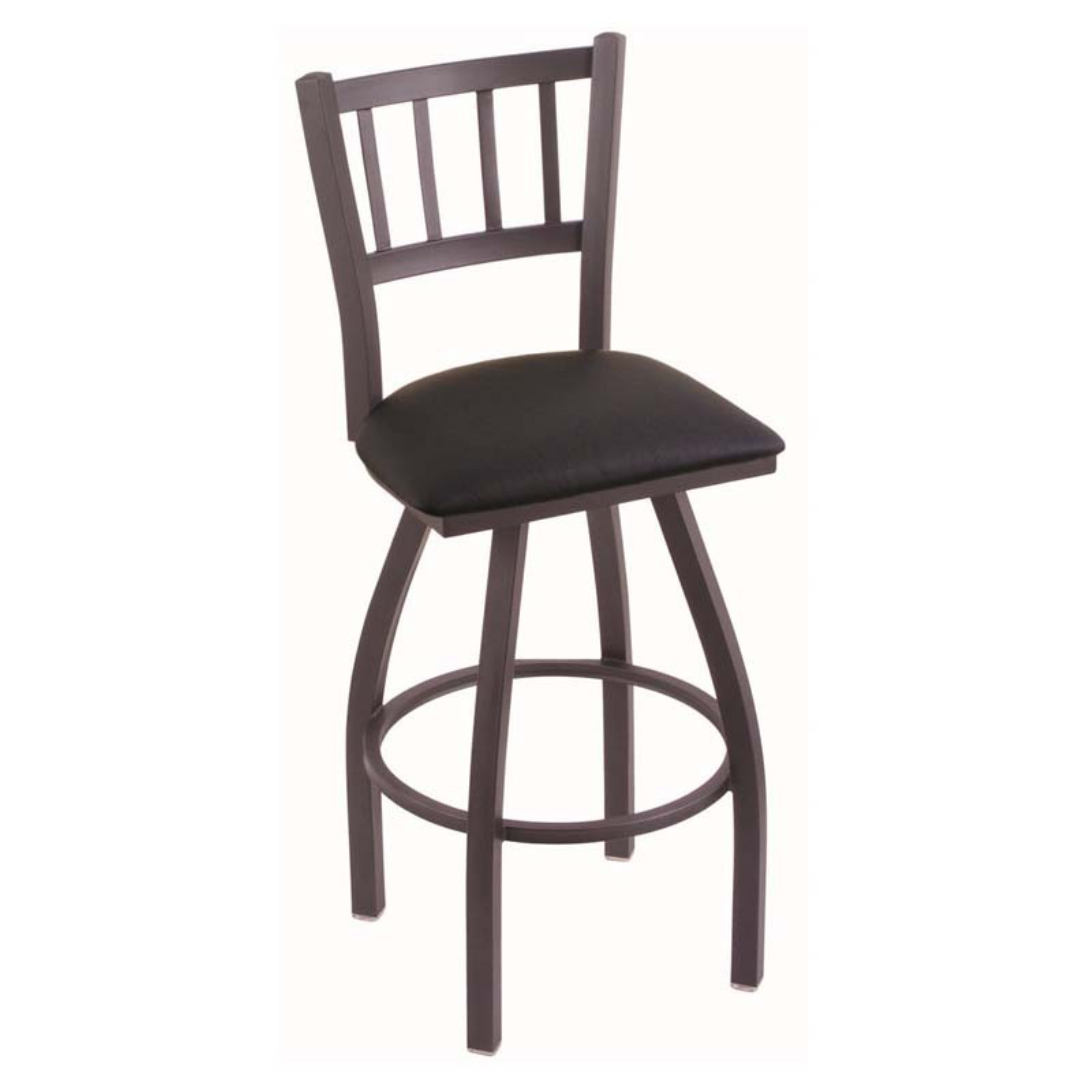 Holland Bar Stool Contessa 36 in. Extra Tall Swivel Bar Stool with Faux Leather Seat