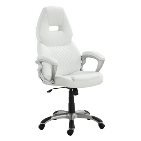 Bowery Hill Ergonomic Faux Leather Swivel Office Chair In