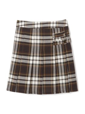 French Toast Girls Plus School Uniform Adjustable Waist Plaid 2-Tab Scooter (Plus)