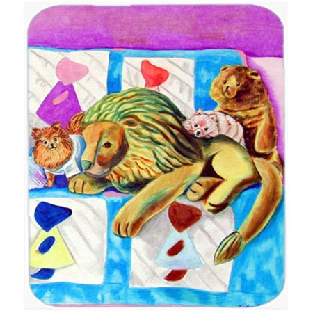 9.5 x 8 in. Red and White Pomeranians on the Couch Mouse Pad, Hot Pad or Trivet - image 1 of 1