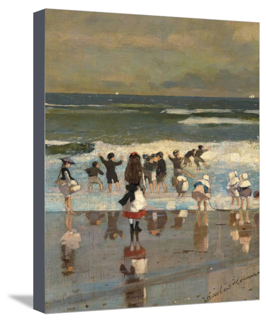 beach scene stretched canvas print wall art by winslow homer. Black Bedroom Furniture Sets. Home Design Ideas