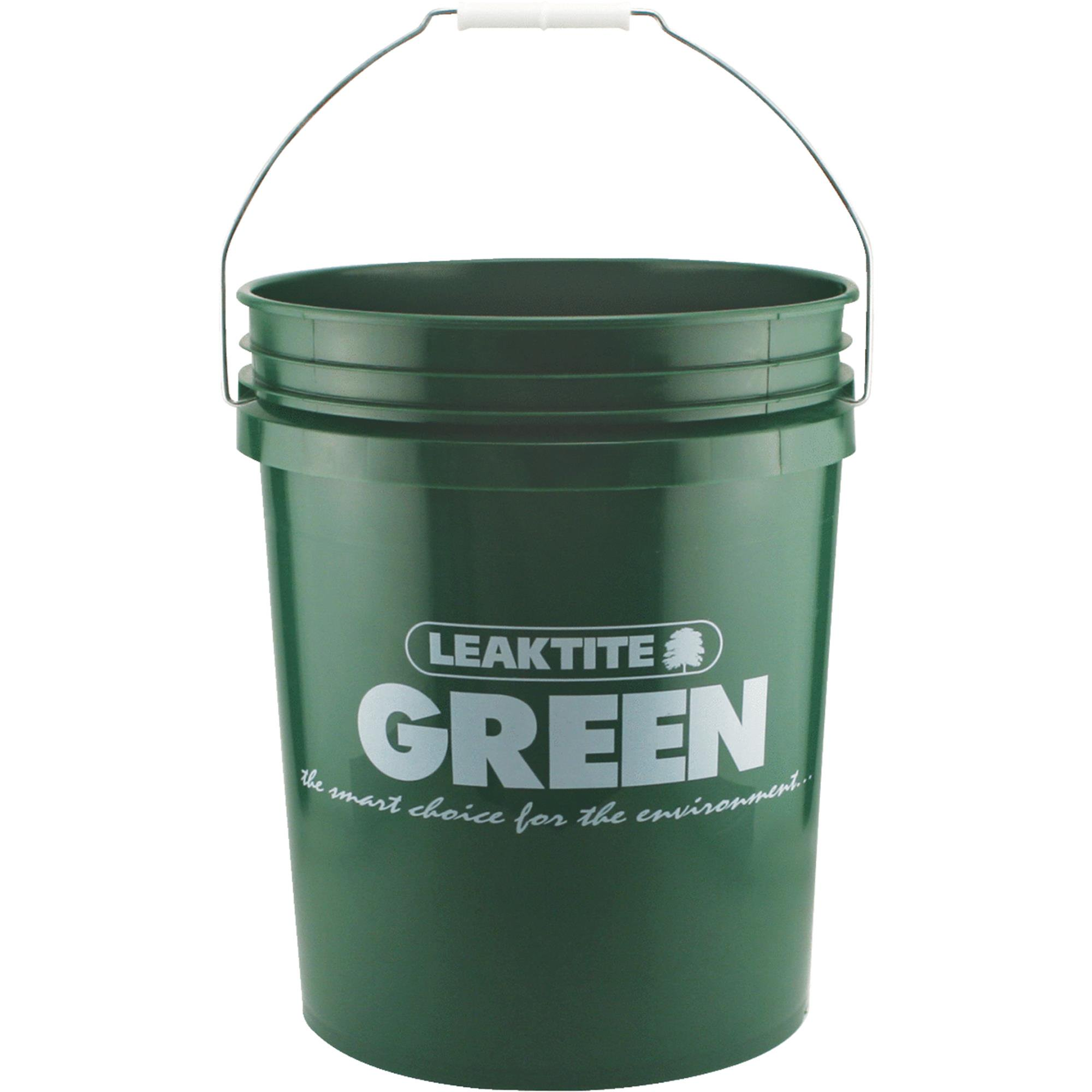 LEAKTITE 5 Gallon Green Plastic Pail 5GLECG