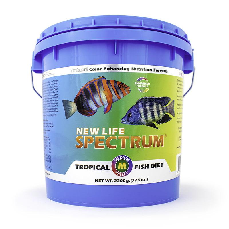New Life Spectrum Tropical Fish Diet Medium Fish Food Pellets, 2.2 kg