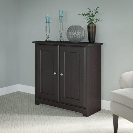 Bush Furniture Cabot Collection 2-Door Low Storage, Espresso Oak