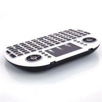AOOLIVE 3-color Backlight i8 Wireless Keyboard 2.4GHz Keyboard Remote Touchpad White