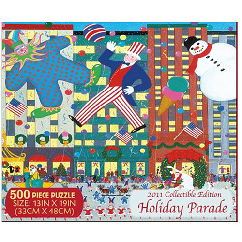 Holiday Parade Puzzle, Collectible Edition, 500 Pieces
