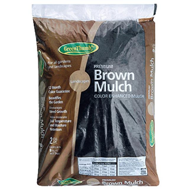 Oldcastle Lawn & Garden 200425 2 cu ft. Green Thumb Mulch, Brown