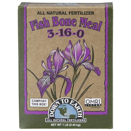 Earth Mix (Down to Earth 17823 3-16-0 Fish Bone Meal Fertilizer Mix, 1 lb)