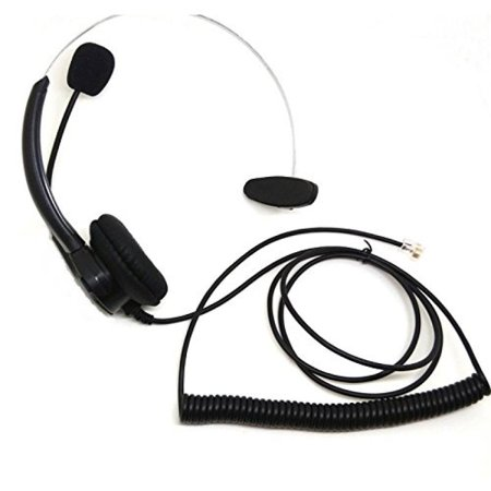 CQtransceiver Office Corded Telephone Headset Boom Mic For Aastra Phone 9112i 9133i 9143i 9480i Sigle Sided