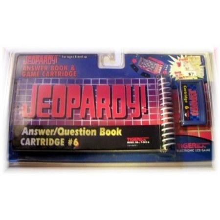 Jeopardy Answer/Question Book & Cartridge #6 for Electronic LCD Handheld Game by Tiger Tiger Electronic Handheld Game