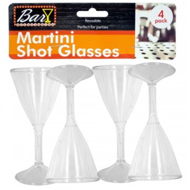 Bulk Buys GR167-36 Plastic Martini Shot Glasses, 36 Piece