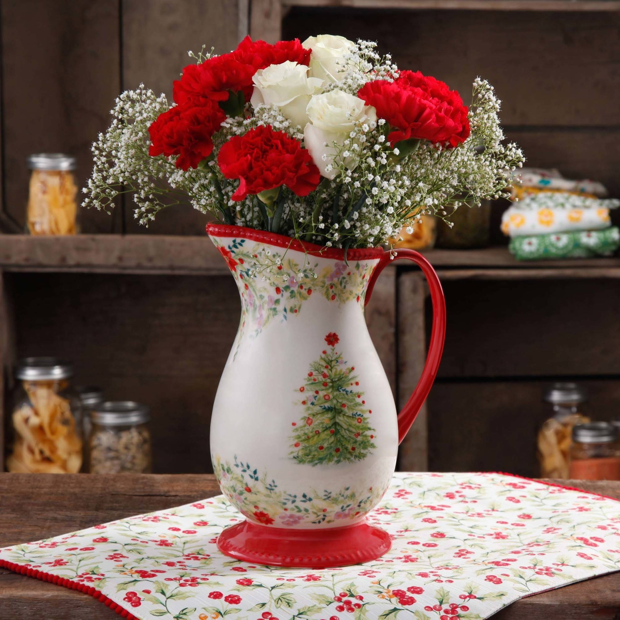 The Pioneer Woman Holiday Cheer Pitcher, 2 qt