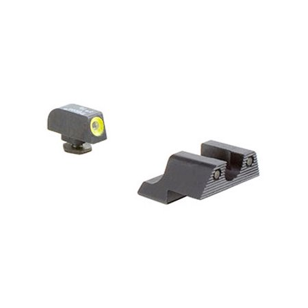 Trijicon GL113-C-600784 HD Night Sight Set - Yellow Front Outline - Glock 42, 43 Pistols - (Best Laser For Glock 43)