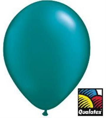 11-inch Qualatex Balloons, Pearl Teal , 2PK