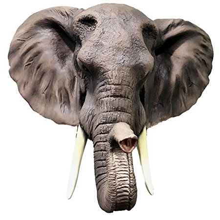 Large Majestic Safari Pachyderm Male Tusked Elephant Hanging Wall Decor Sculpture Plaque Figurine Symbol of Nobility and Strength Excellent Home Decor Gift For Wildlife Nature Lovers](Safari Decor)