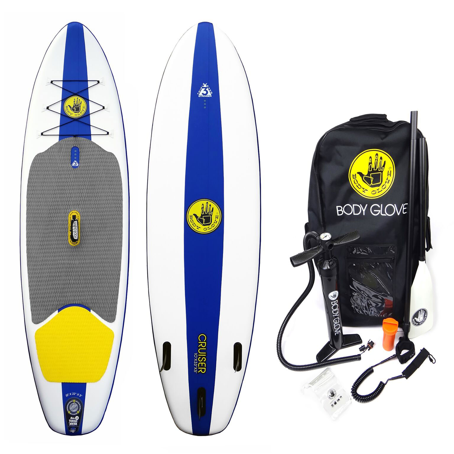 Body Glove Cruiser Inflatable Blow Up Stand Up SUP 10 Foot Surf Paddleboard