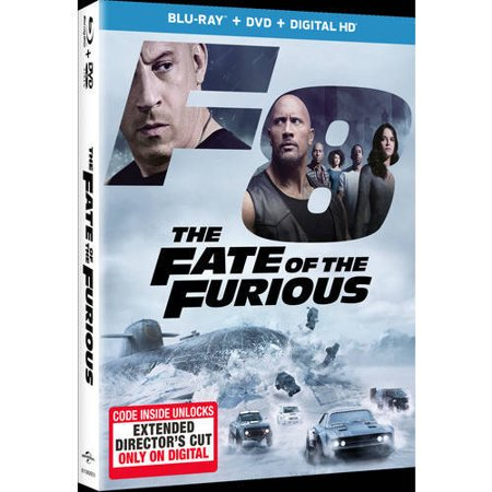 The Fate of the Furious (Blu-ray + DVD + Digital (The Fast And The Furious Opening Scene)