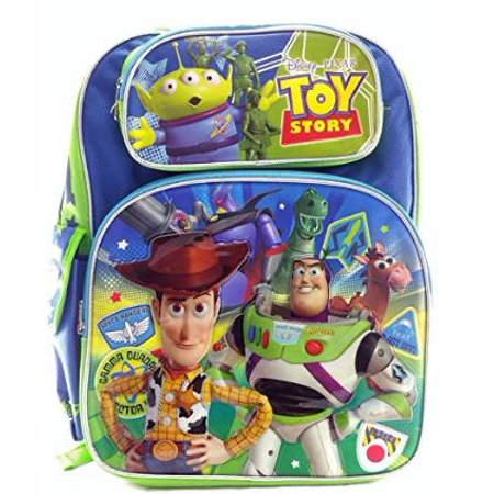 Backpack - - Toys Story Canvas Green & Blue New