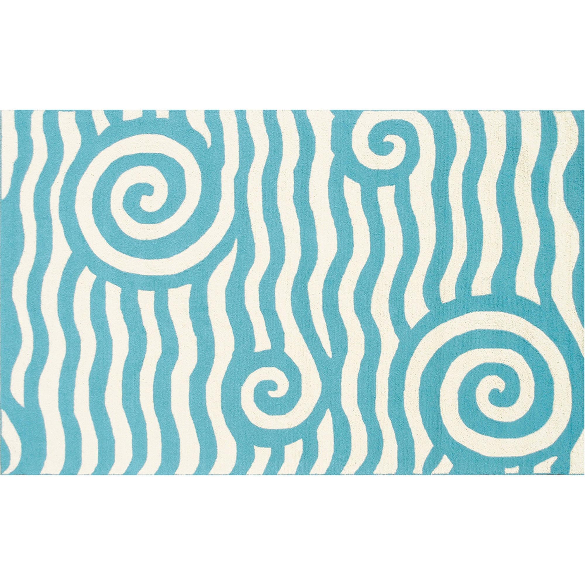 The Rug Market Yala Blue/White Rug, 5' x 8'