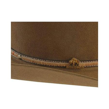 fa618289 Stetson - Stetson Men's Powder River 4X Buffalo Felt Cowboy Hat -  Sbpwrv-754023 Mink - Walmart.com