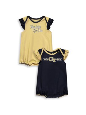 Georgia Tech Yellow Jackets Girls Infant Homecoming 2-Pack Bodysuit Set - Navy/Gold