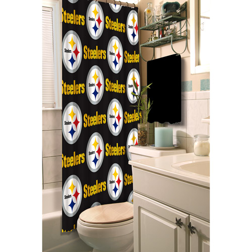 Pittsburgh Steelers Decorative Bath Collection - Shower Curtain